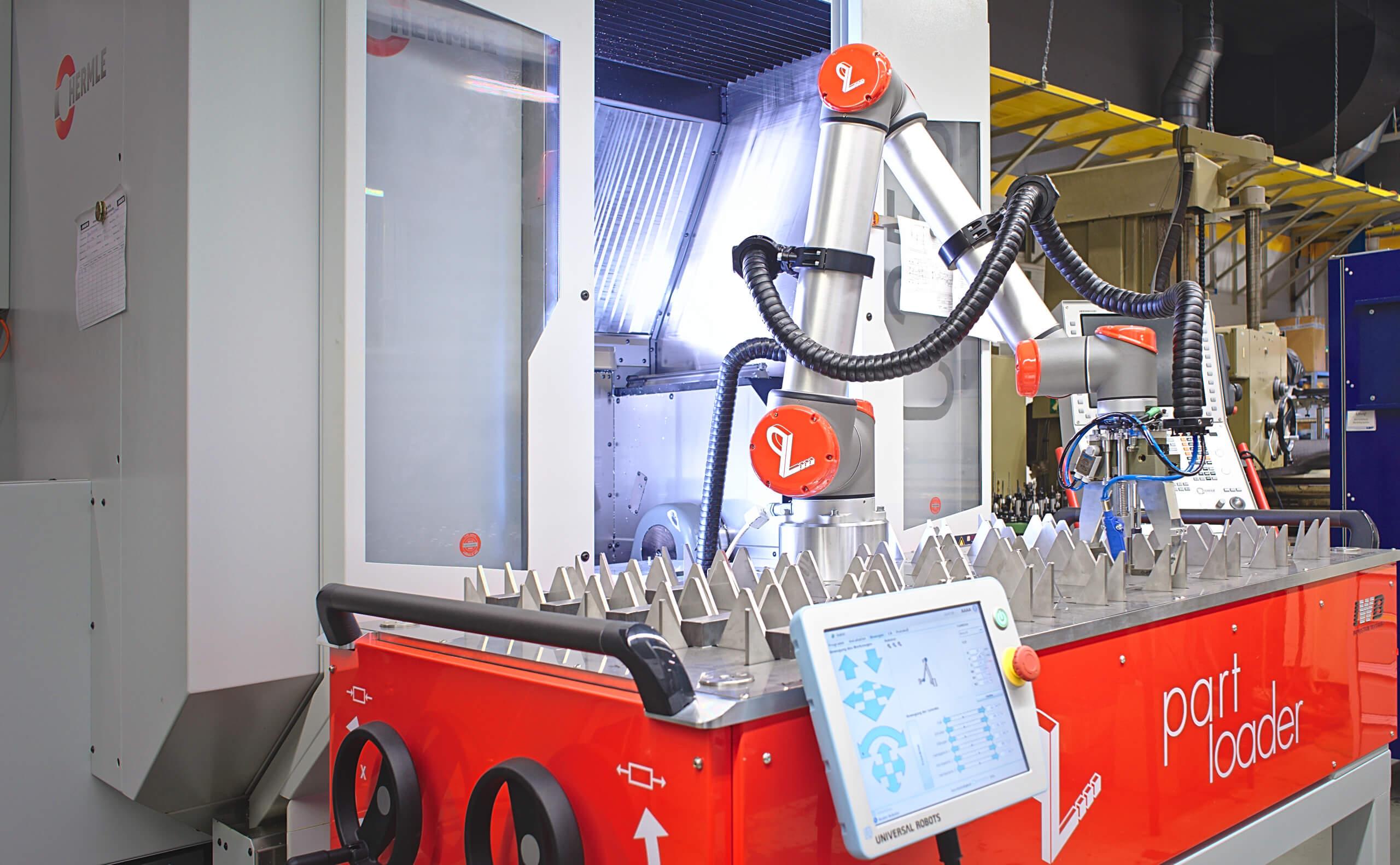 IWB PartLoader für Maschinenbeladung