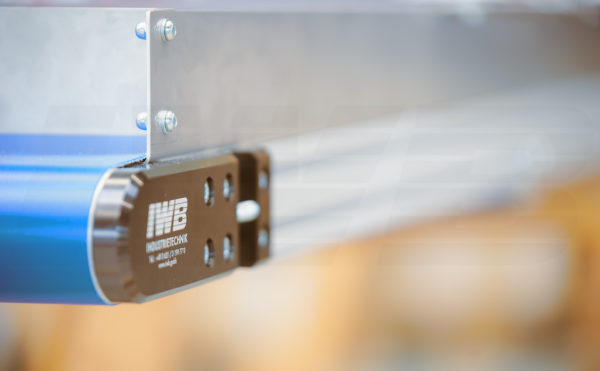 Minitrans Förderband mit Seitenführung