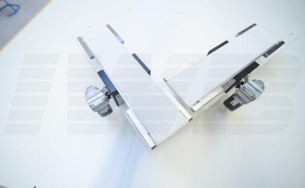Miniatur-Förderband mit Mittenantrieb