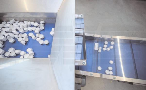 Bunkerförderbänder für Schüttgut und/oder Kunststoffteile