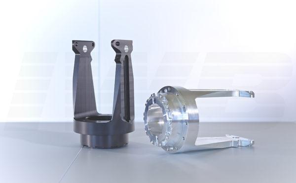 CNC Fertigung - Drehteil shwarz eloxiert