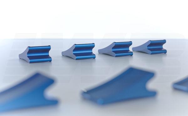 CNC Fertigung - Frästeil blau eloxiert