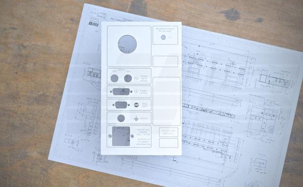 CNC Fertigung - Frästeil Frontblende mit untereloxaldruck